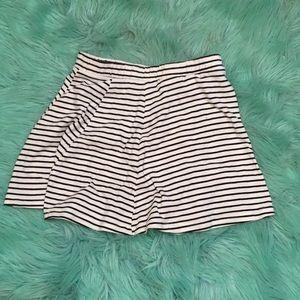 Stripped circle skirt